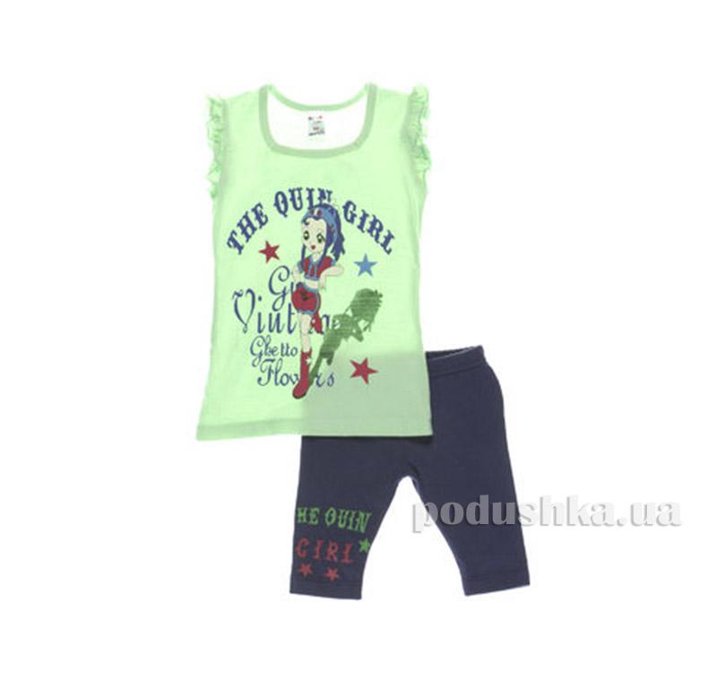 Костюм детский для девочки Niso Baby 1011 зеленый