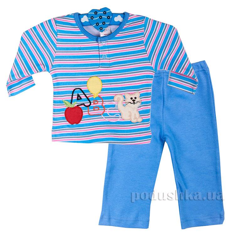 Пижама для мальчика Niso Baby 1043 голубая