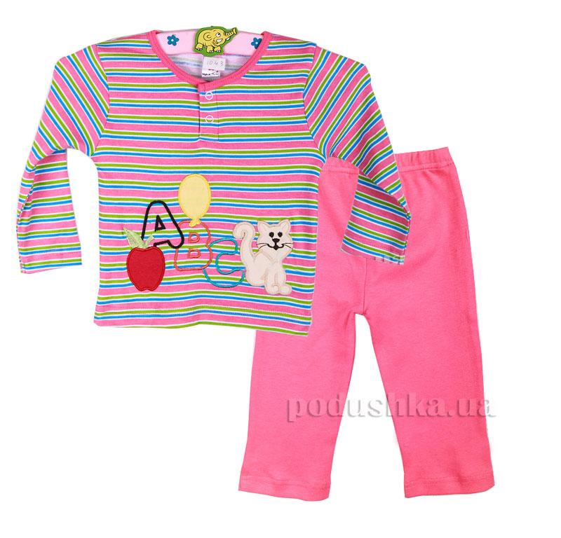 Пижама для девочки Niso Baby 1043 розовая
