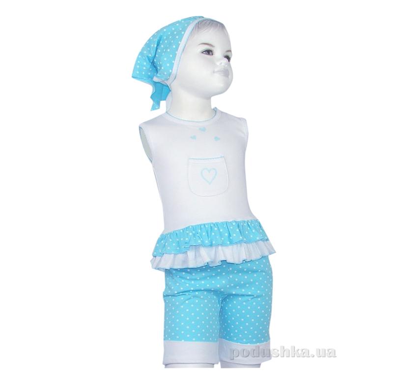Костюм для девочки Senti 090905 голубой