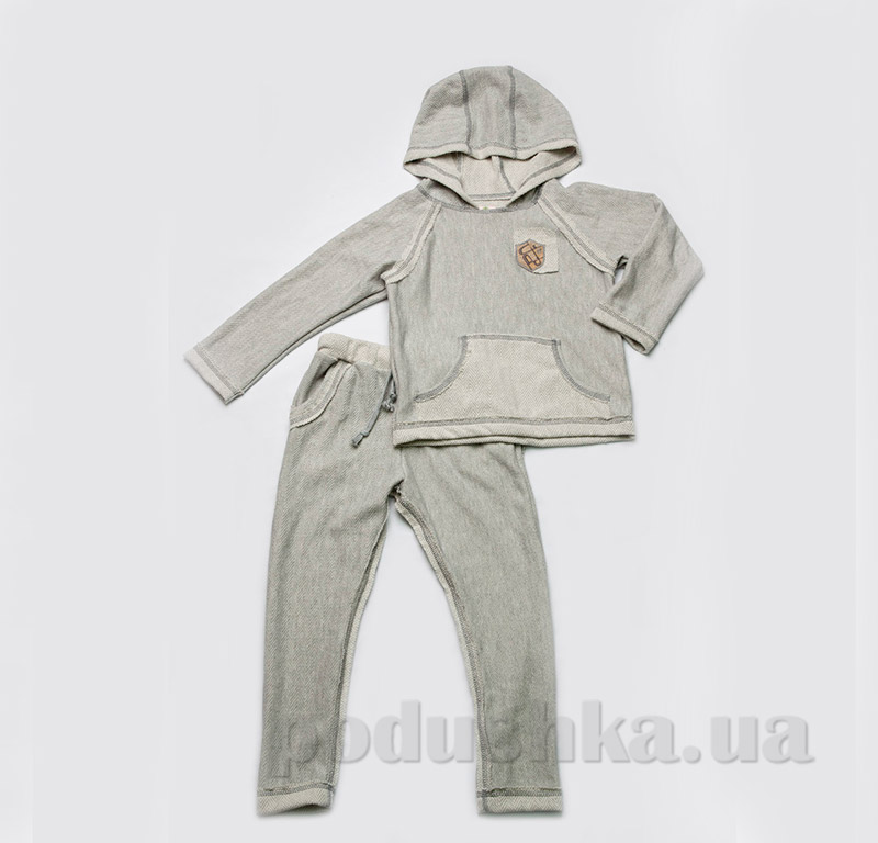 Костюм для мальчика трикотажный Модный Карапуз 03-00474 Светло-серый