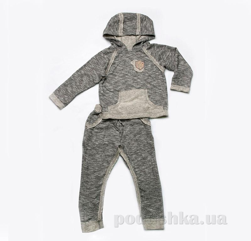 Костюм для мальчика трикотажный Модный Карапуз 03-00474 темно-серый