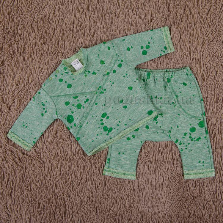 Костюм для малышей Плямка Бетис футер зеленый