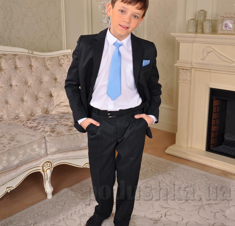 Однобортный костюм для мальчика Милана КДО-03107 черный