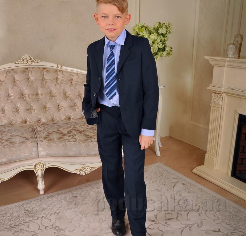 Костюм школьный для мальчика Милана КДО-02108 синий