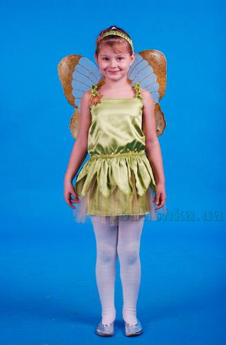 Костюм Тинкер Белл из мультфильма Феи на 3-6 лет Украина карнавальная KD17