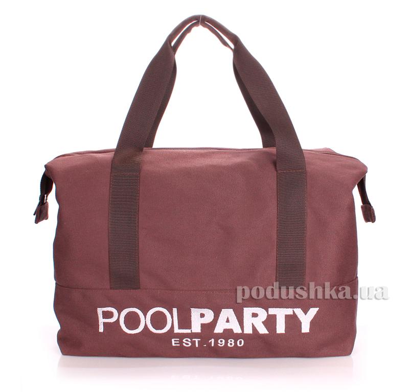 Коттоновая сумка Poolparty pool-12-brown