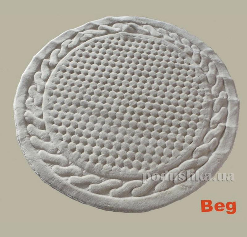 Коврик белый для ванной комнаты Berceste Arya 1380026