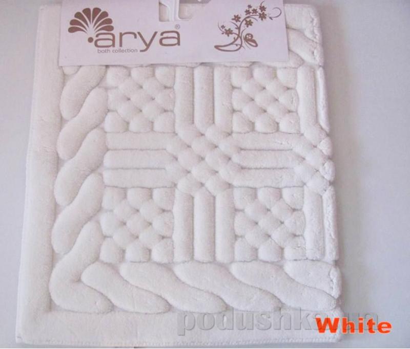 Коврик для ванной Arya 1380046 Berceste белый