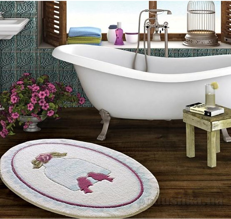 Коврик для ванной Confetti Bird Cage голубой 2665