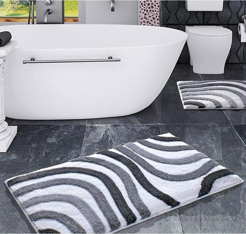 Коврик для ванной Confetti Elite Sardes серый