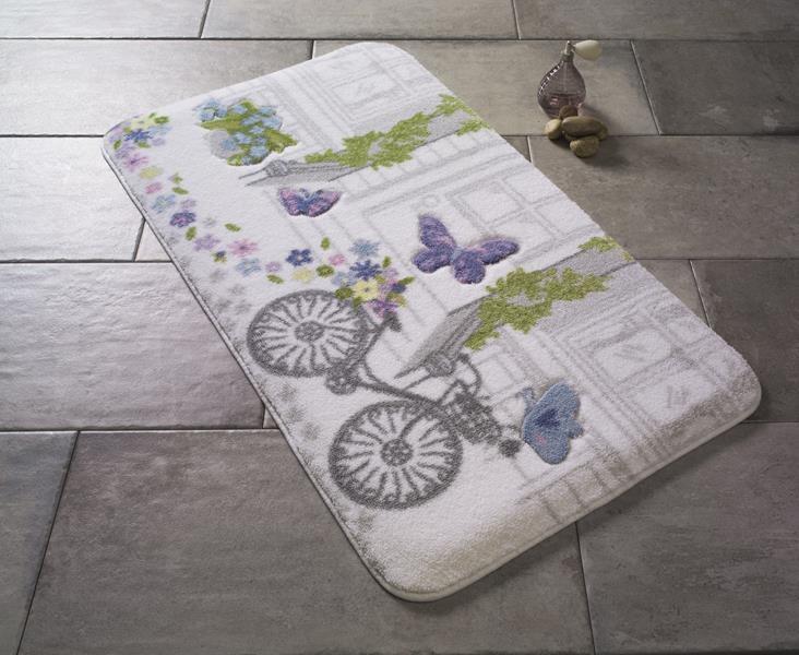 Коврик для ванной Confetti Spilled Flowers Purple