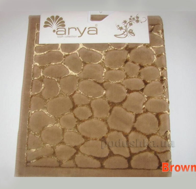 Коврик для ванной комнаты Arya Cakil 1380048 коричневый