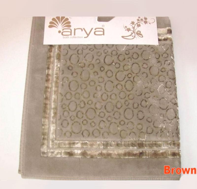 Коврик для ванной комнаты Arya Hitit 1380049 коричневый
