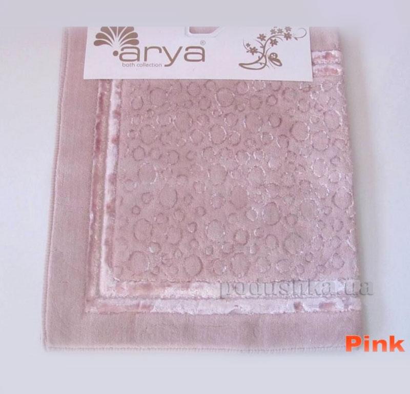Коврик для ванной комнаты Arya Hitit 1380049 розовый