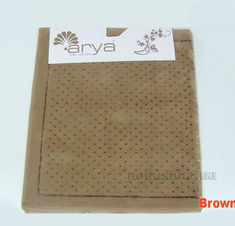 Коврик для ванной комнаты Arya Point 1380050 коричневый
