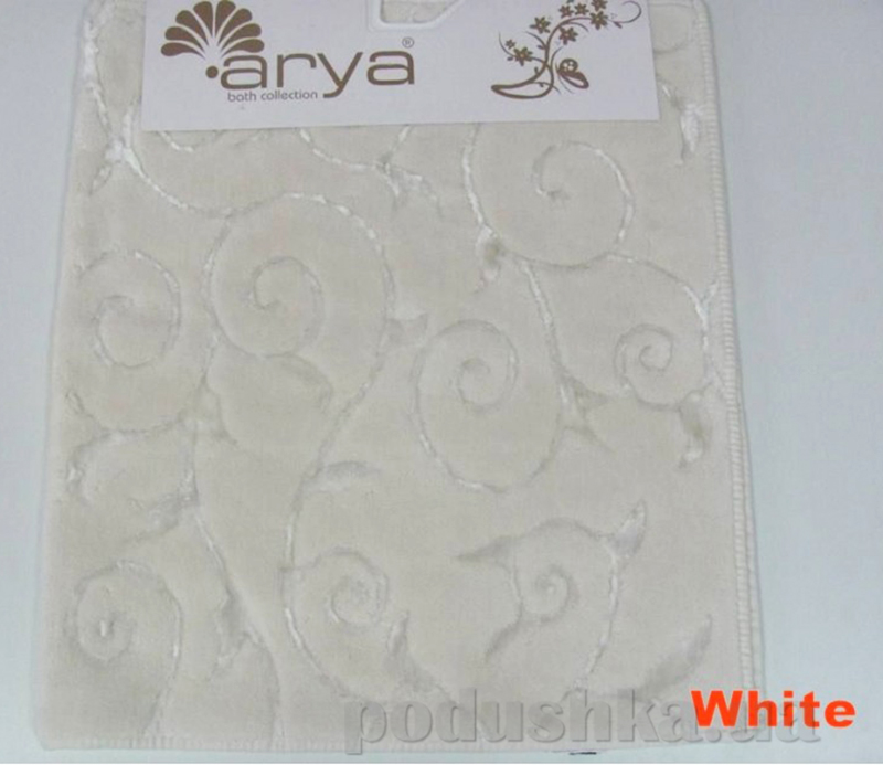 Коврик для ванной комнаты Arya Sarmasik 1380051 белый