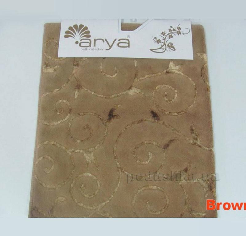 Коврик для ванной комнаты Arya Sarmasik 1380051 коричневый