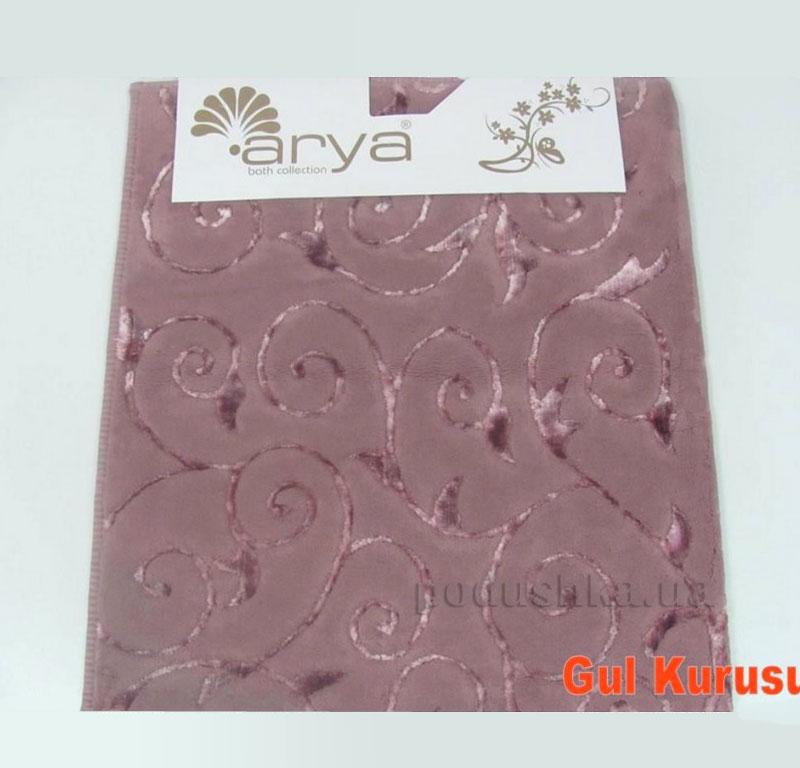 Коврик для ванной комнаты Arya Sarmasik 1380051 темно-розовый