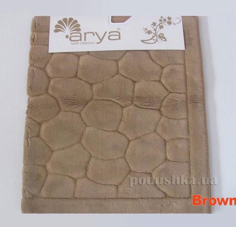 Коврик для ванной комнаты Arya Tas 1380052 коричневый