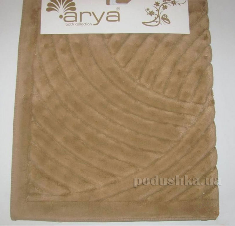 Коврик для ванной комнаты Arya Yazgulu 1380053 коричневый