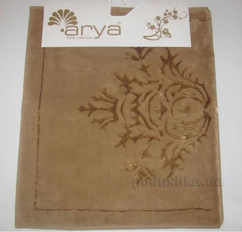 Коврик для ванной комнаты Arya Zambak 1380054 коричневый
