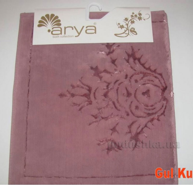 Коврик для ванной комнаты Arya Zambak 1380054 темно-розовый