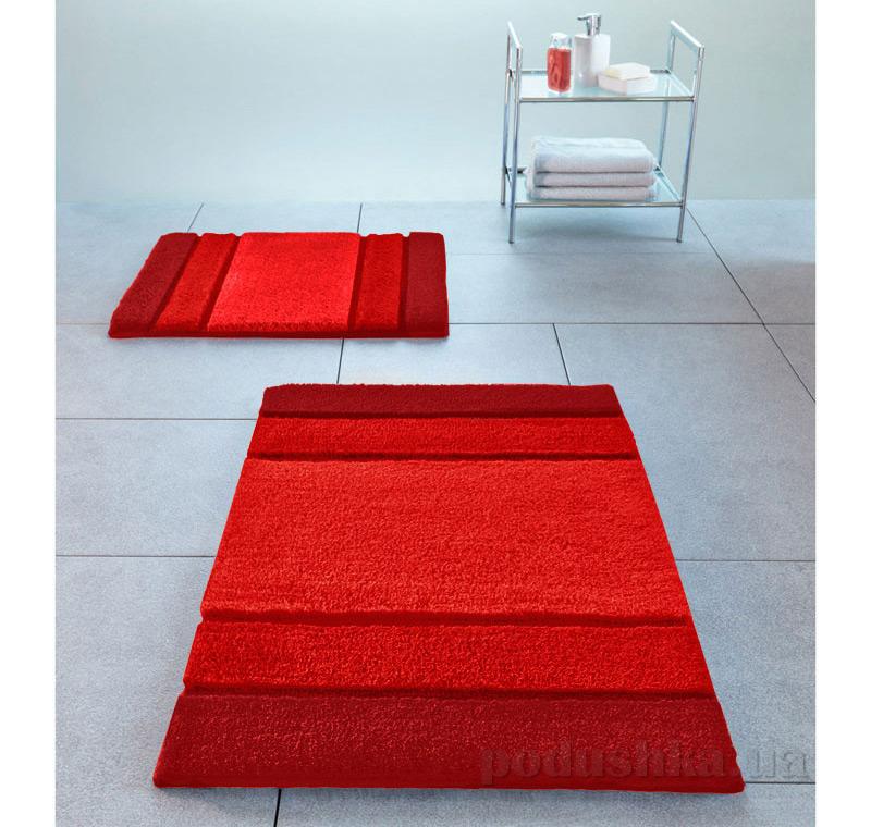 Коврик для ванной Spirella Calma красный