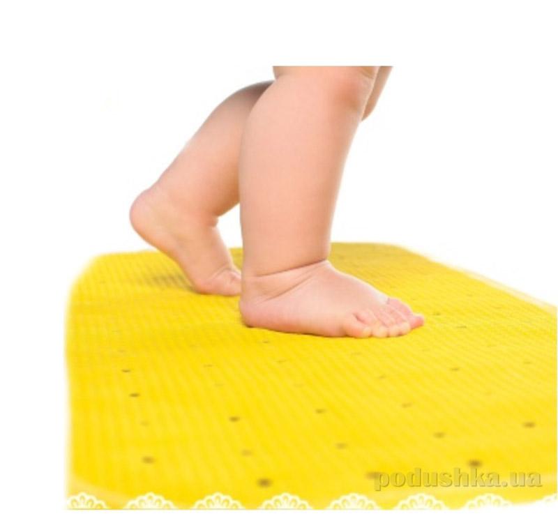 Коврик противоскользящий в ванну KinderenOk желтый детский