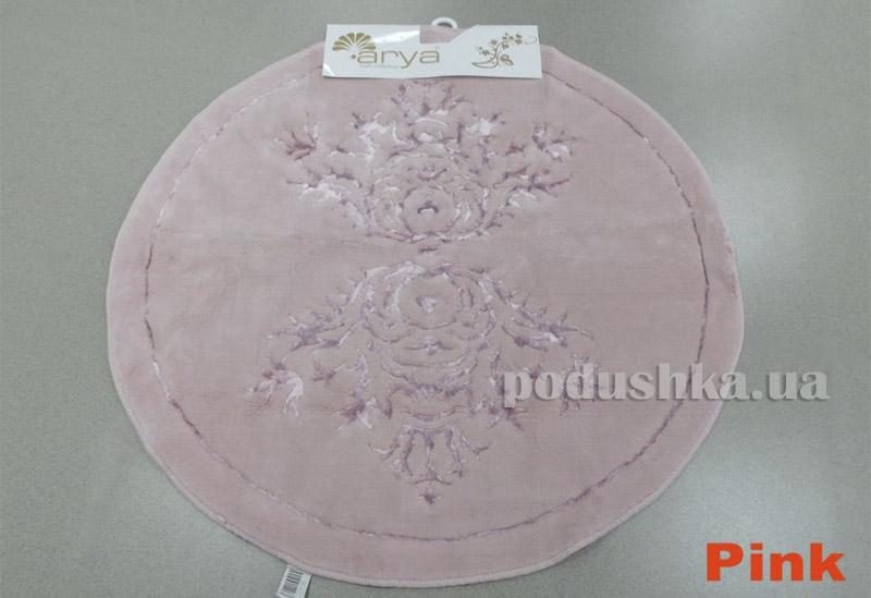 Коврик розовый для ванной комнаты Berceste Arya 1380034
