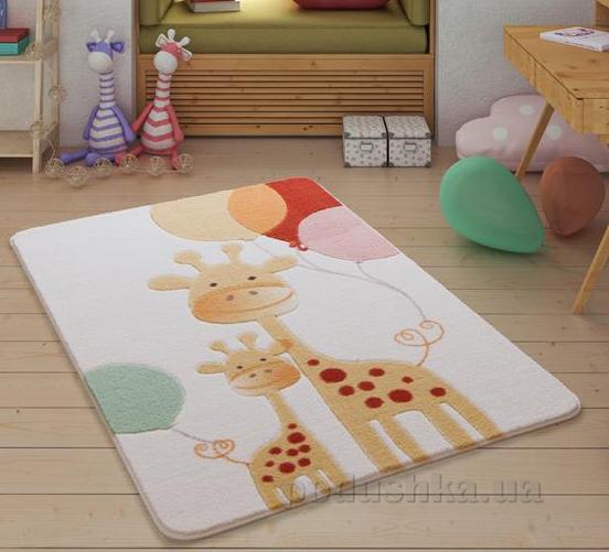 Коврик в детскую комнату Confetti Happy Giraffe Yellow