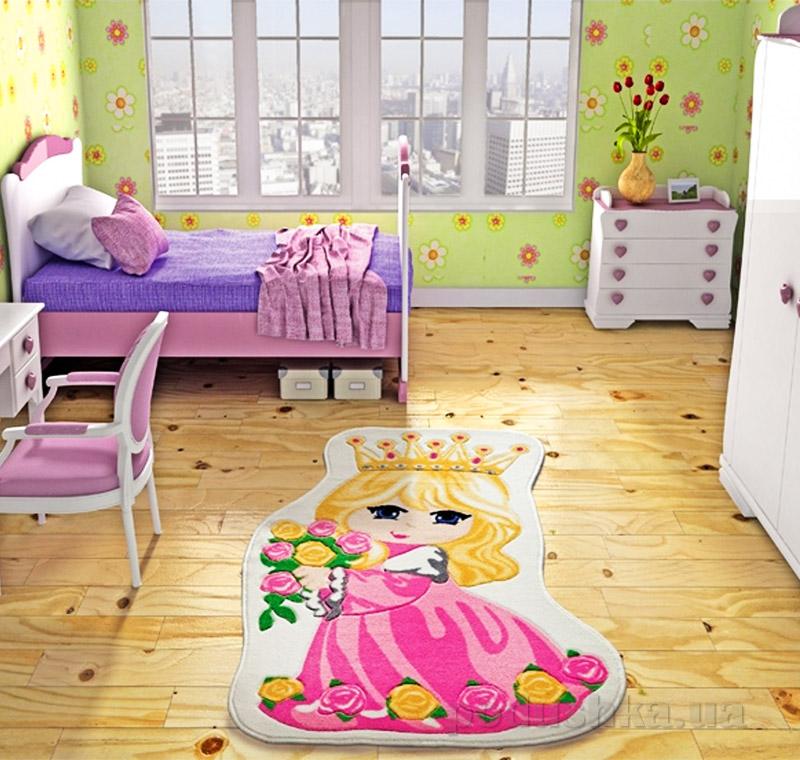 Коврик в детскую комнату Confetti Princess 2680 фуксия