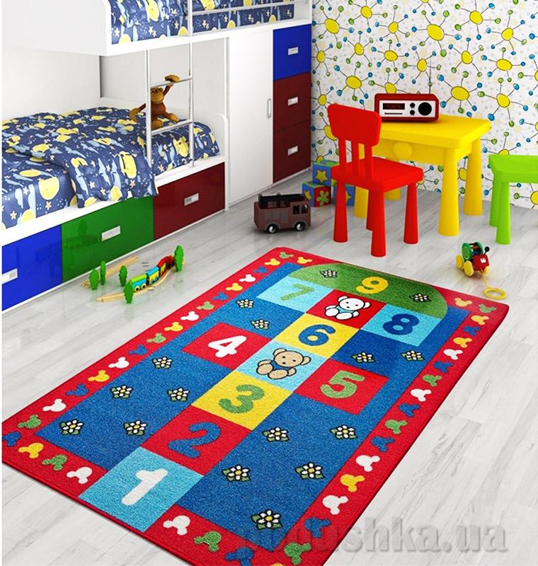 Коврик в детскую комнату Confetti Seksek красный