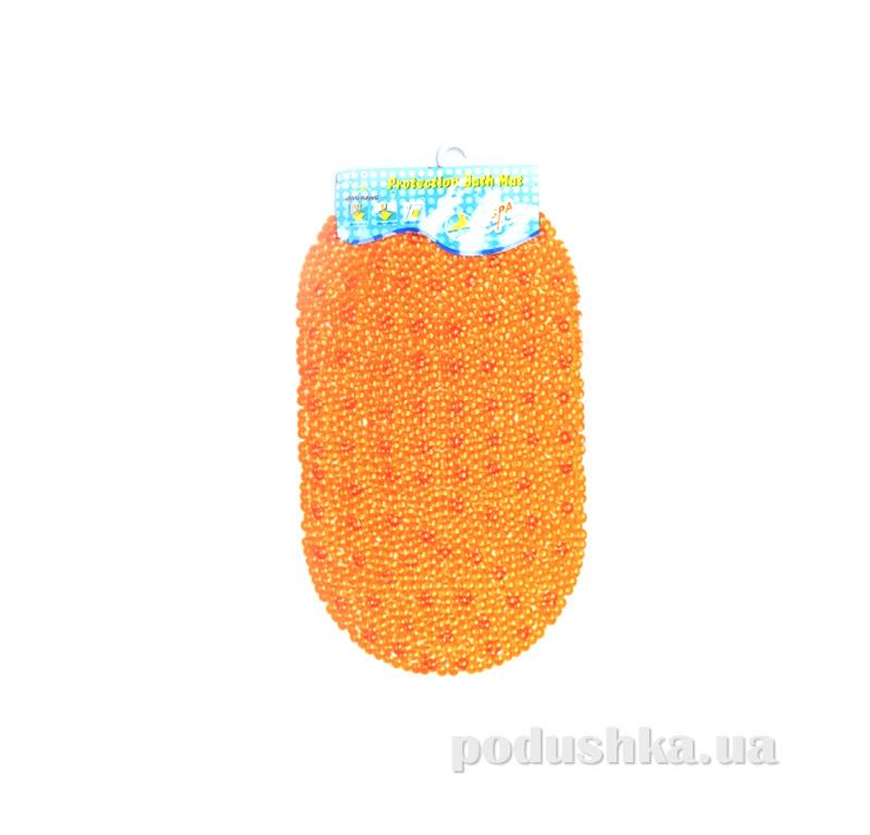 Коврик в ванну силиконовый С-6-kovrotex оранжевый