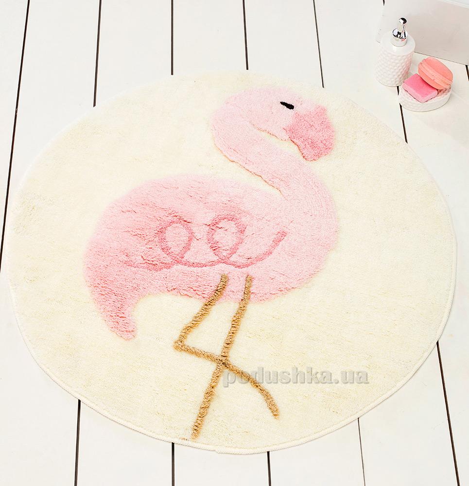Коврик в ванную Chilai Home Pink flamingo yuvarlak