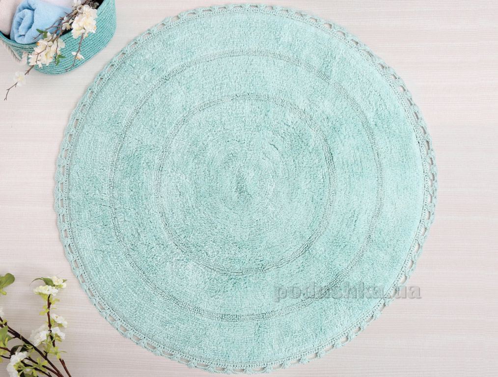 Коврик в ванную Irya Genny ментоловый диаметр 80 см  Irya