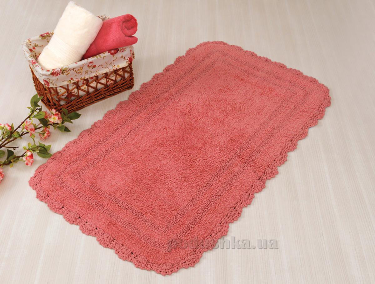 Коврик в ванную Irya Sahra тёмно-розовый