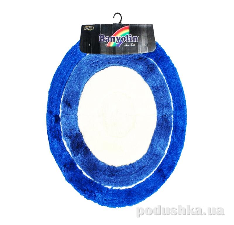 Коврик в ванную на резиновой основе Кovrotex Синий овал