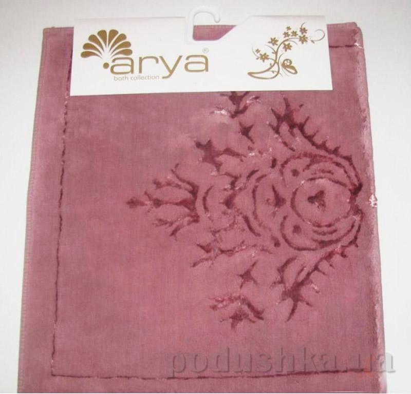Коврики для ванной в наборе Zambak Arya 1380044 темно-розовые