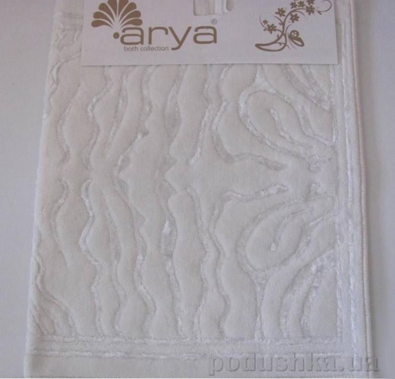 Коврики для ванной в наборе Zebra Arya 1380045 белые