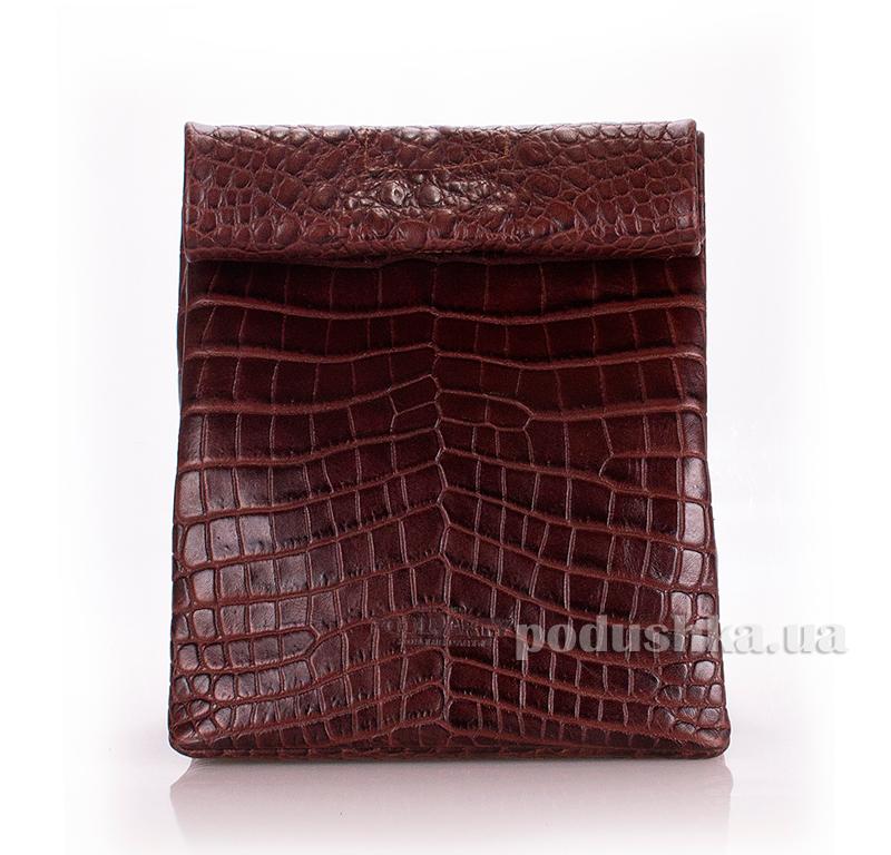 Кожаная сумка-клатч Poolparty Lunchbox aligator-lunchbox-brown