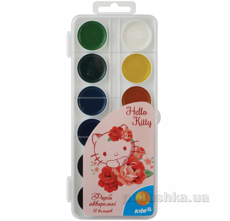 Краски акварельные 12 цветов Kite Hello Kitty HK15-061K
