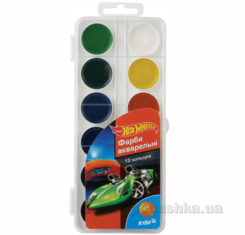Краски акварельные 12 цветов Kite Hot Wheels HW15-061K