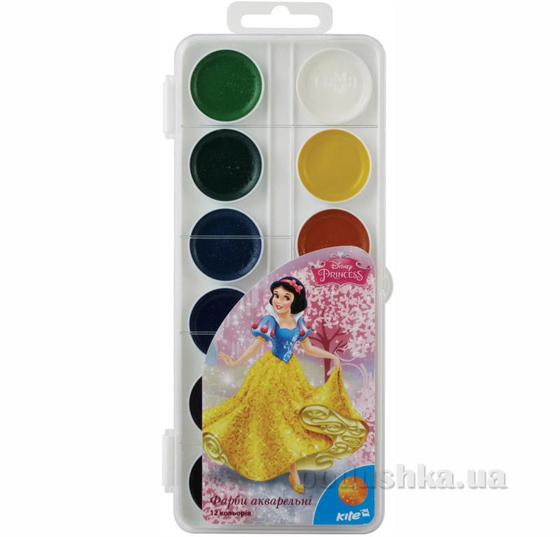 Краски акварельные 12 цветов Kite Princess P15-061K