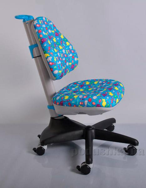 Кресло детское Y-317 BN обивка голубая со зверятами Mealux