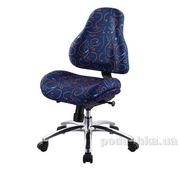 Кресло ортопедическое с эффектом памяти Y-128 B обивка синяя с абстрактным узором Mealux