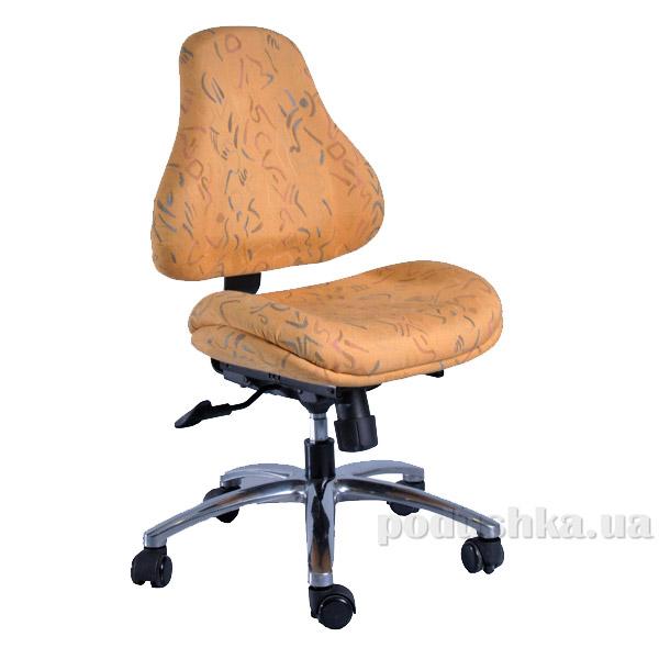 Кресло ортопедическое с эффектом памяти Y-128 DY обивка желтая с абстрактным узором Mealux