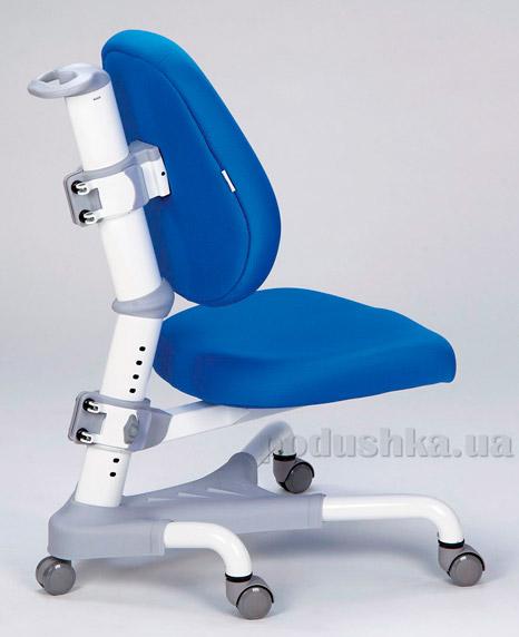 Кресло с белым металлическим основанием Y-718 WKB обивка синяя однотонная Mealux
