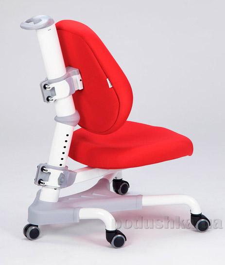 Кресло с белым металлическим основанием Y-718 WKR обивка красная однотонная Mealux