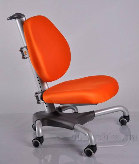 Кресло с серым металлическим основанием Y-517 SKY обивка оранжевая однотонная Mealux